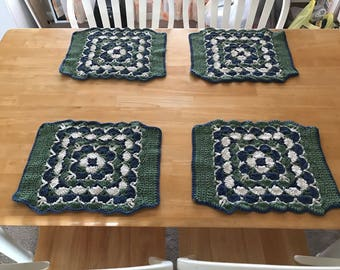 Crocheted Placemats Set of 4