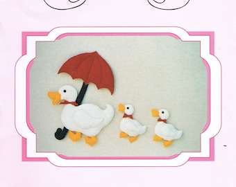 Wall Hanging Ducks & Duckling Craft Sewing Pattern - Duck Doll Sewing Pattern - Nursery Decor Sewing Pattern