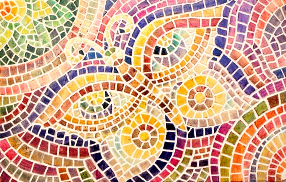Mosaic wall art Mosaic art Mosaic art wall pannel Mosaic
