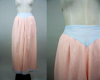 1930s Pyjama Pants / 30s Pajama Trousers / Beach Pyjamas / Cotton PJs / Size Medium / M L
