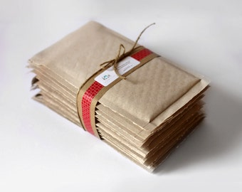 4.25 x 7 in-  Brown Kraft Bubble Mailers-  Set of 10   ||Shipping Supplies,  Padded Envelopes, Mailing, Packaging