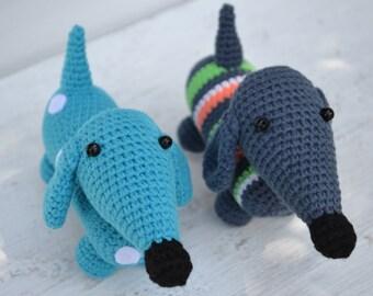 Dachshund crochet Toy dachshund Stuffed animal dog Amigurumi dachshund Crochet dog Amigurumi puppy Crochet duchshund