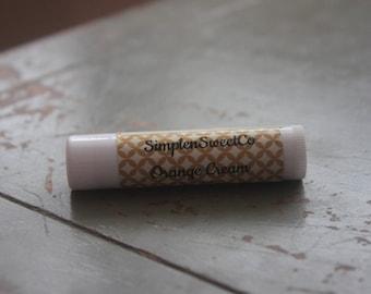 Orange Cream Lip Balm, Homemade Lip Balm, Beeswax Lip Balm, Coconut Oil, Vitamin E, Dry Lip Relief
