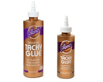 Aleene's Original Tacky Glue All Purpose, Choose from 8 oz or 4 oz bottles