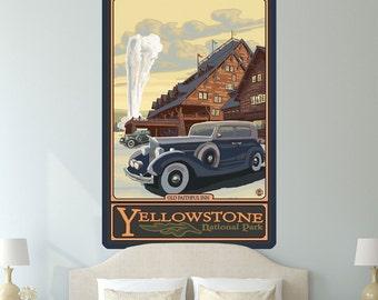 Yellowstone Park Old Faithful Inn Wall Decal - #60770
