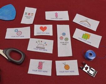 Custom clothing label sewing