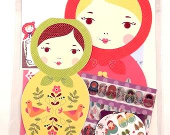 Matryoshka Dolls Card Set