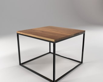 Roomify Occasional table KUBE 55x55cm-Loft minimal design Industrial