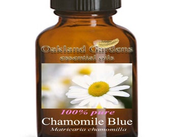 Chamomile Blue GERMAN CHAMOMILE Essential Oil - UNDILUTED - 100% Therapeutic Grade - Strong, warm, sweet herbaceous
