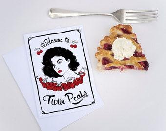 Twin Peaks Greeting Card, audrey horne card, twin peaks birthday, birthday card, twin peaks return