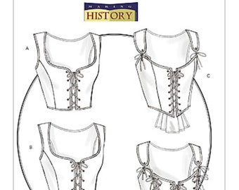 Butterick B4669 Making History Laced Corsets with Peplum Variations, Victorian Corset, Edwardian Corset, Steampunk, Burlesque laced corset