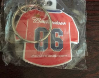 Budweiser FIFA World Cup Rubber Keyring/Keychain