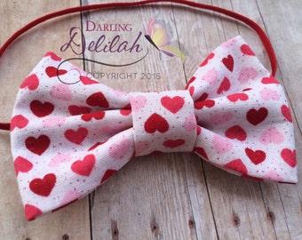 Valentines Bow Tie,  Bow Tie, Boy Photo Prop, Newborn Photo Prop