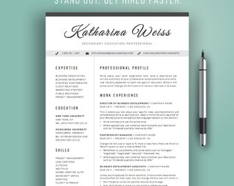 Resume Template Modern, CV Template, Instant Download, Word, Professional  Resume Design,