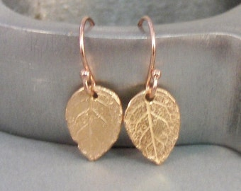 Rose Leaf,Rose Gold,Earrings,Rose Gold Earrings,Rose Gold,Leaves,Leaf Earrings,Nature Earrings,Gold Leaf,Gold Earring,by SeaMaidenJewelry