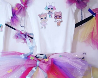 Lol dolls sets Tutu top and headwear