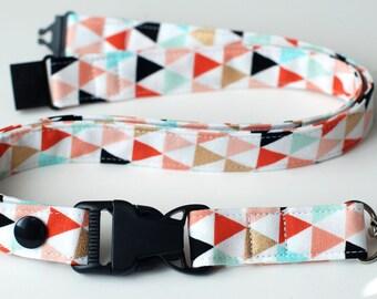 Detachable Lanyard, Tribal Triangles Fabric Lanyard, Detachable Key Lanyard, ID Badge Lanyard, Fashion Neck Lanyard for Keys, Teacher Gift