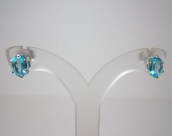 Madagascar Blue Apatite Earrings