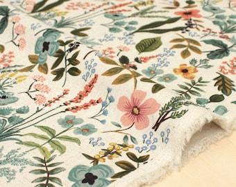 Cotton + Steel Amalfi canvas - herb garden natural - fat quarter