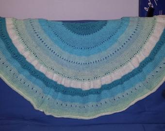 Faerie Half-Pi Hand-Knit Shawl