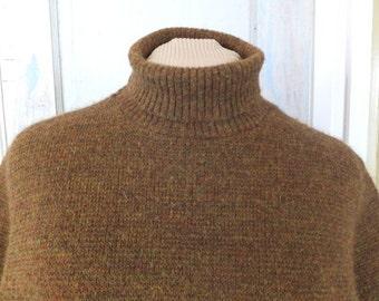 1960-70s Brown Turtleneck Puritan Sweater
