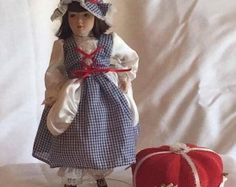 """Danbury Mint """"Little Miss Muffet"""" Porcelain Doll"""