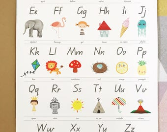 Alphabet Poster - 3 SIZES AVAILABLE