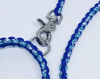 Paracord Dog Lead Blue