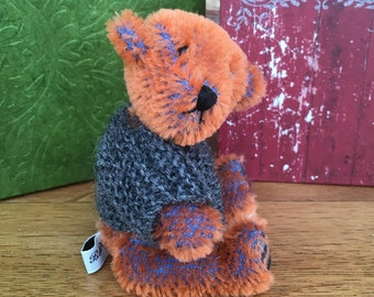 Handmade Artist Miniature Teddy Bear Benji by Fran's Bears 5 inches (13 cm) OOAK