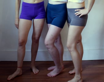 3 pack // HEMP jersey short SHORTS / yoga shorts / made to order / by replicca / size S to XL
