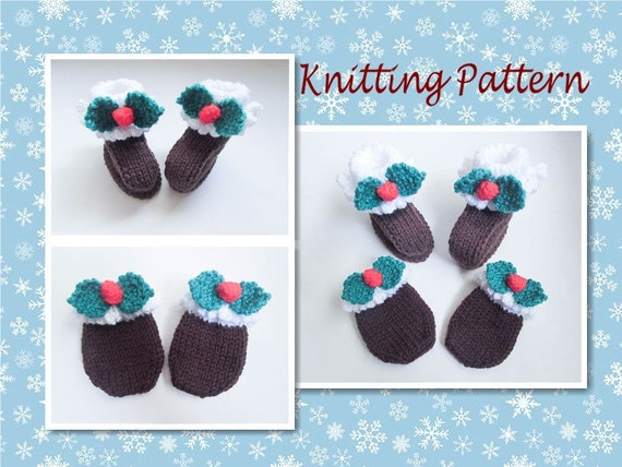Knitting pattern christmas pudding baby booties mittens shoes baby knitting pattern christmas pudding baby booties mittens shoes baby christmas knit character booties from wistfullywoolen on etsy studio dt1010fo