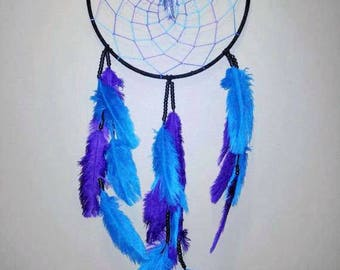 Dream Catcher Handmade Purple Turquoise  Custom 12in Dreamcatcher Perfect Home Decor Gift