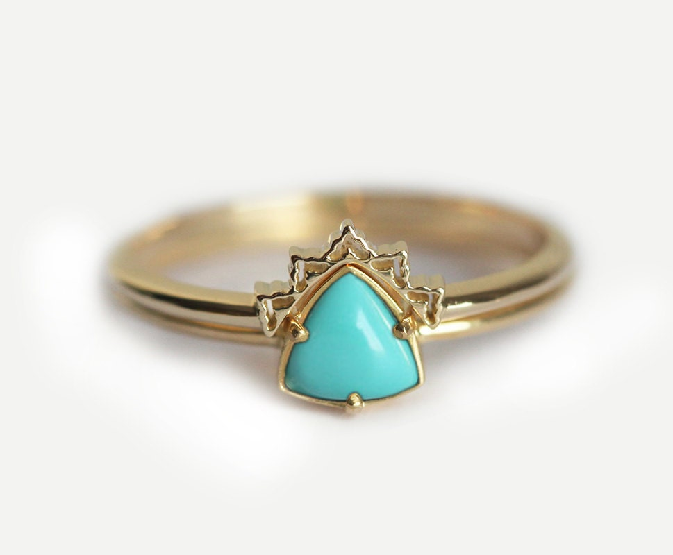zoom - Turquoise Wedding Ring
