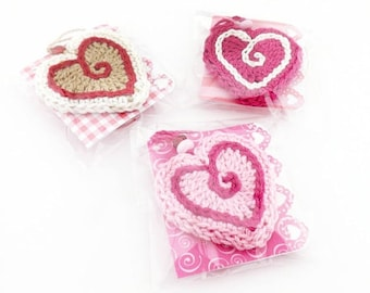 Gift Wrap Kits with Keepsake Heart Ornaments, Heart Theme Gift Tags and Red and Pink Curling Ribbon, All Occasion Instant Gift Kits