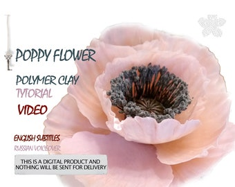 Video Tutorial poppy flower from polymer clay