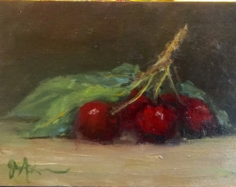 Cherry Oil Painting