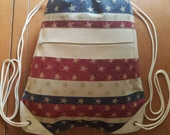 USA Drawstring Backpack