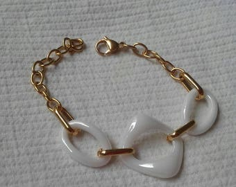 Bracelet chain Steel gold tone combined with Calabrotes beautiful Exclusiba 30 off discount of them