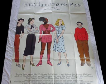 1997 poster original film Woody Allen Harry in all its States 120X160cm very good condition/vgc