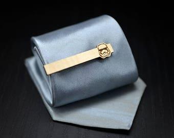 NEW Star Wars Tie Clip - 2018 STORMTROOPER Maple wood tie bar