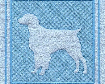 Brittany Spaniel Embroidered Flour Sack Hand/Dish Towel