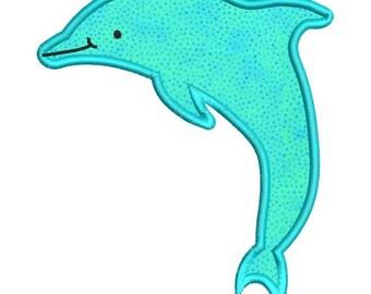 Applique Dolphin Fish Machine Embroidery Designs 4x4 & 5x7 Instant Download Sale