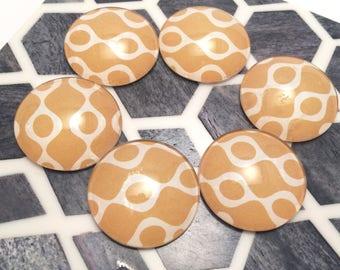 Retro Inspired Fridge Magnets, Retro Magnets, 70s Inspired Decor, Dorm Decor, Yellow Kitchen Decor