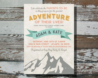 Rustic Baby Shower Adventure - Printable