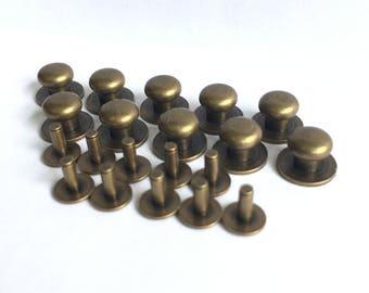 Antique Brass Sam Browne Studs/Buttons