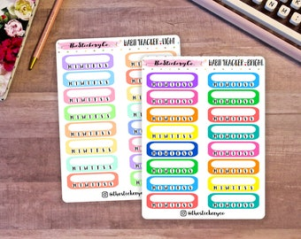 Habit Tracker Stickers, Functional Planner Stickers, Basic Stickers