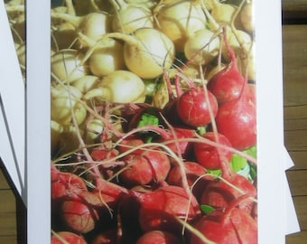 Farmer's Market Radishes, Photo Art Card