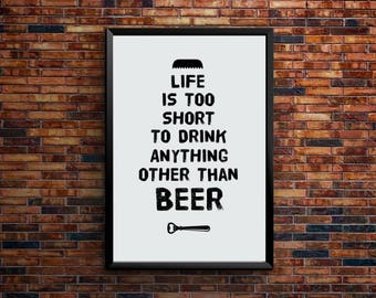 Anything but Beer | Printable Art, downloadable posters and prints | PSD Cut File | Digital Download