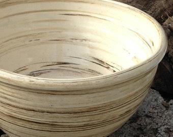 Large Mixing Bowl Rustic Handmade Stoneware