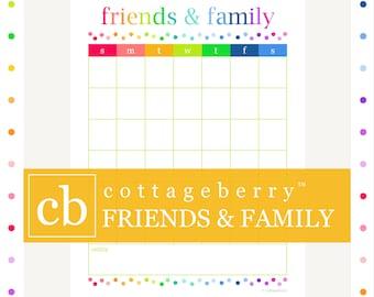 SOCIAL CALENDAR, planner printables, planner inserts, planner page, printables, digital download, home binder
